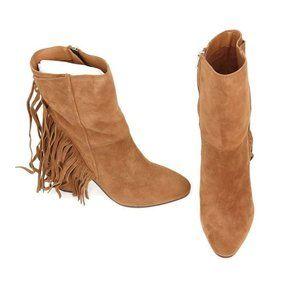 Dolce Vita Womens Rhoda Ankle Boots Brown Block